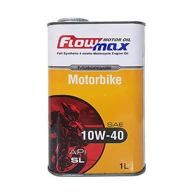 روغن موتورسیکلت فلومکس 10w-40 موتوربایک حجم 1 لیتری